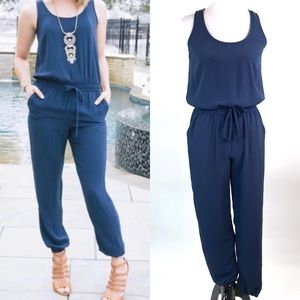 Cabi Style #303 French Navy Blue Jumpsuit Size XS
